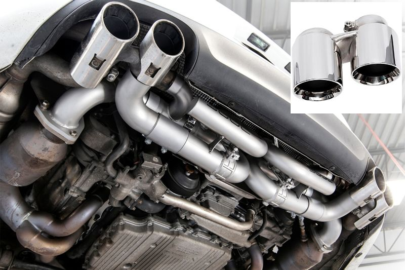 Soul Performance Valved Performance Exhaust System with PSE Valve Controller Polished Chrome Tips Porsche 911 Carrera 12-15