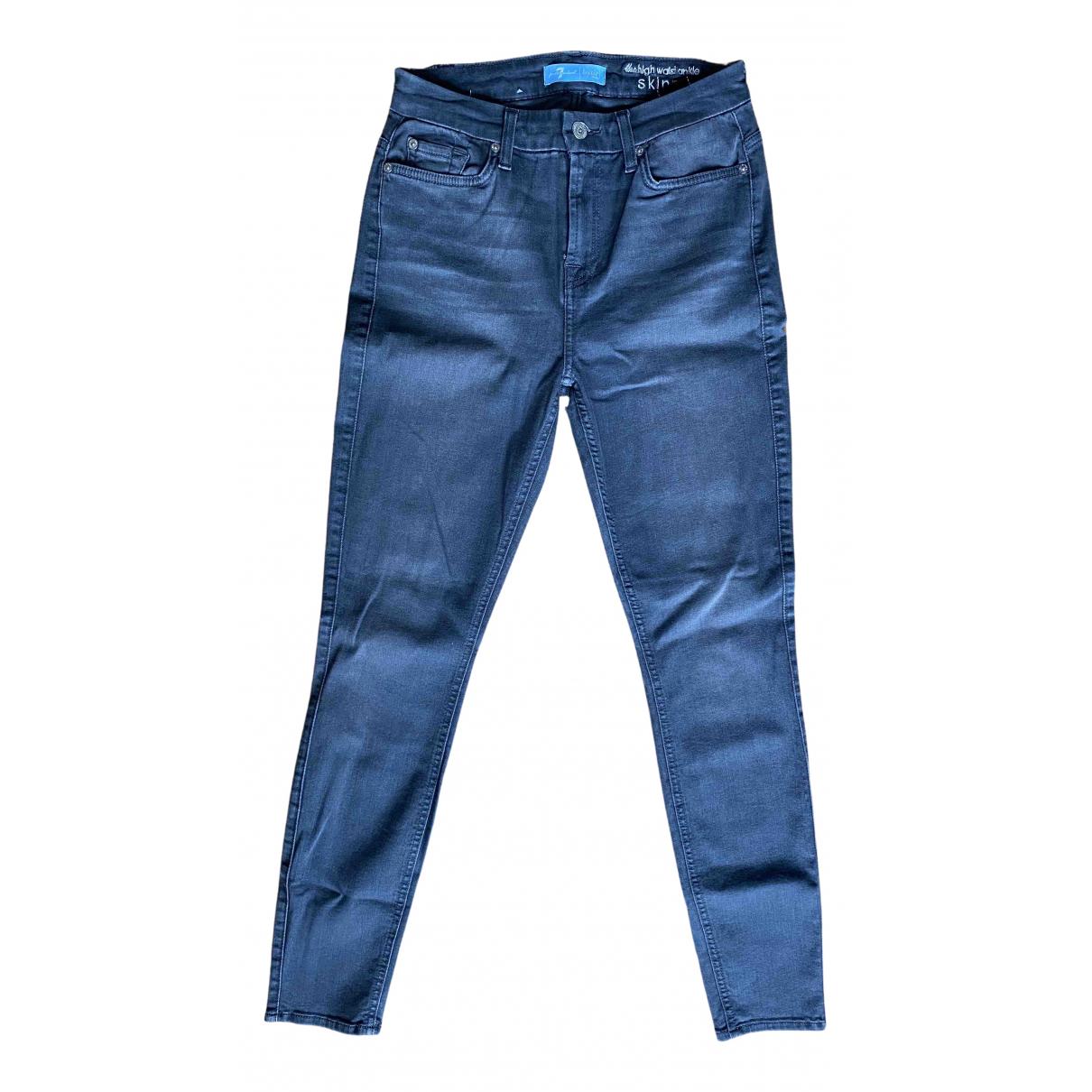 7 For All Mankind - Jean   pour femme en coton - gris