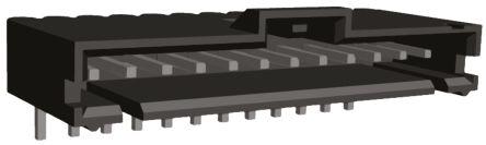 TE Connectivity , AMPMODU MTE, 12 Way, 1 Row, Right Angle PCB Header (5)