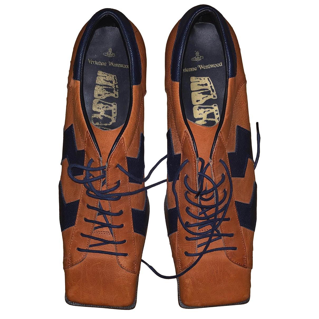 Vivienne Westwood \N Schnuerschuhe in  Orange Leder