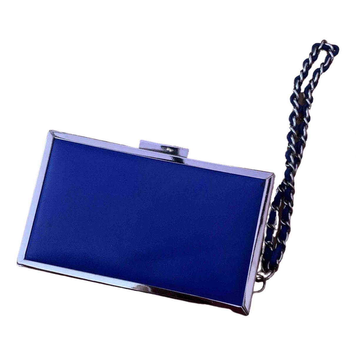 Bolsos clutch en Plastico Azul Zara