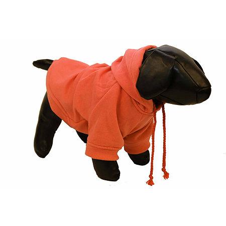 The Pet Life Fashion Plush Cotton Pet Hoodie Hooded Sweater, One Size , Orange