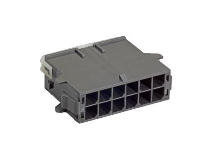 Molex , Mega-Fit Male Housing Plug, 5.7mm Pitch, 6 Way, 2 Row (600)