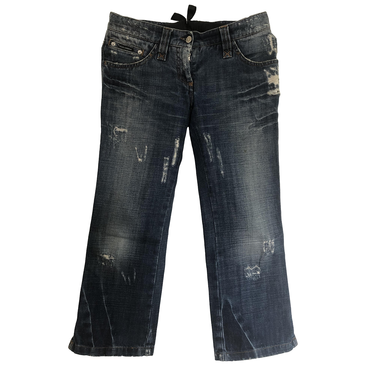 Dolce & Gabbana \N Blue Cotton Jeans for Women 40 FR