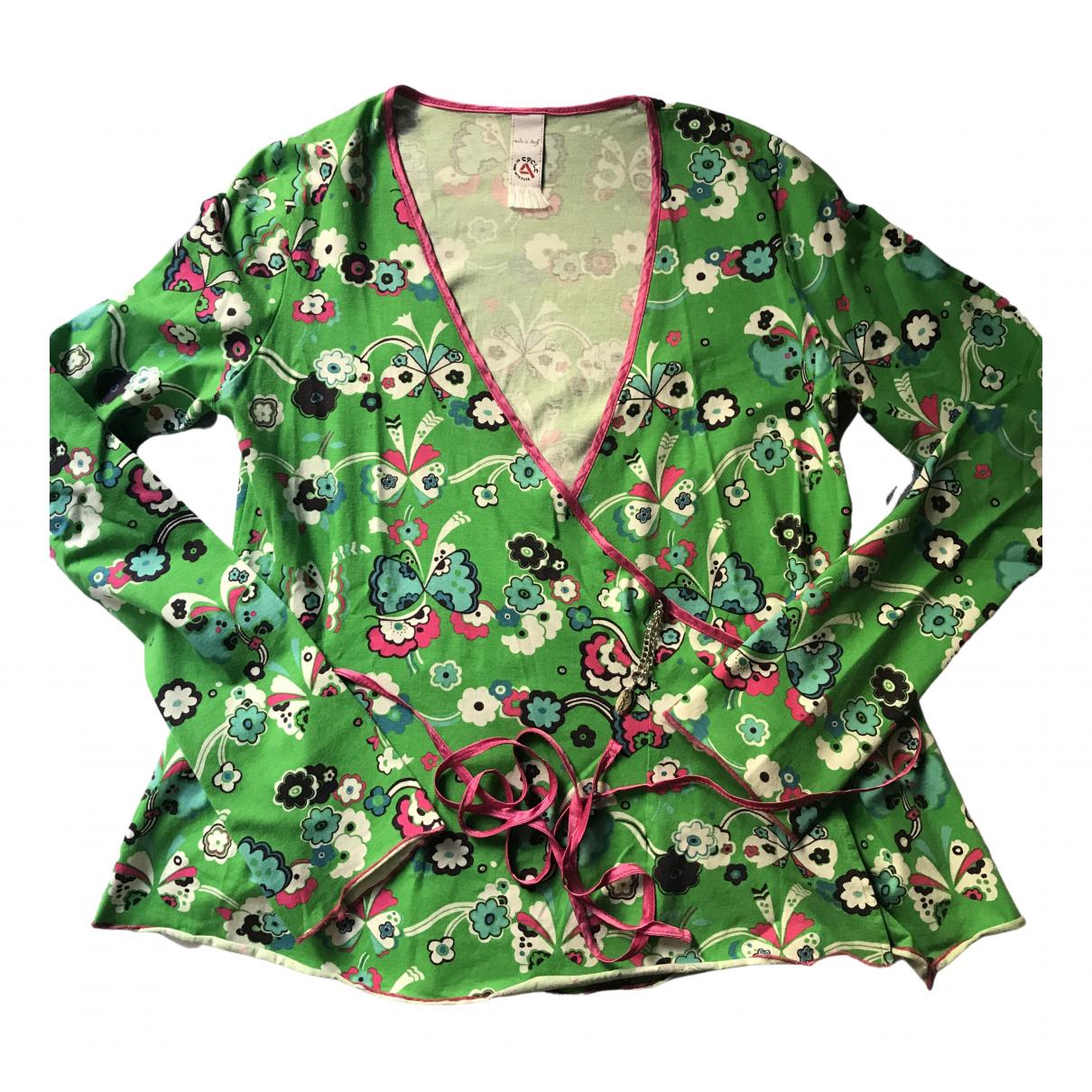 Cycle - Pull   pour femme en coton - vert