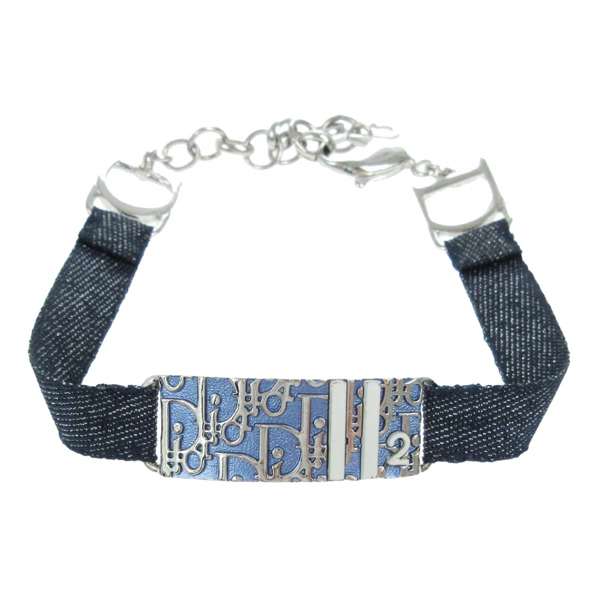 Dior - Bracelet   pour femme en plaque argent - argente