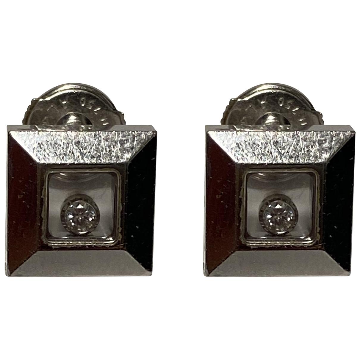 Chopard - Boucles doreilles Happy Diamonds pour femme en or blanc - argente
