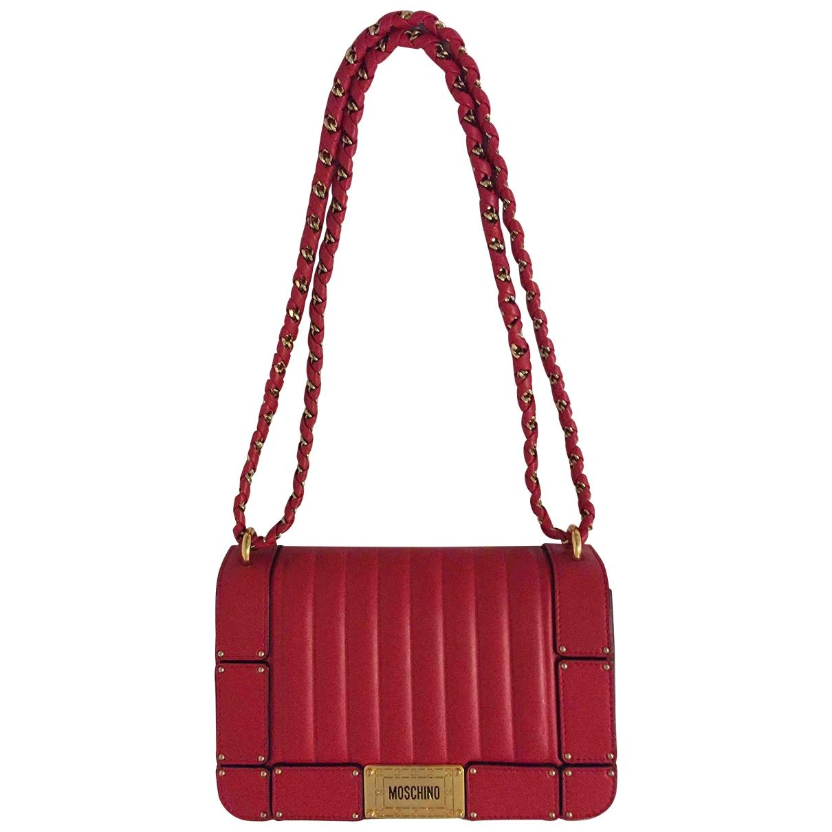 Moschino \N Handtasche in  Rot Leder