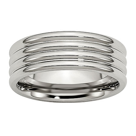8MM Stainless Steel Wedding Band, 13 , No Color Family