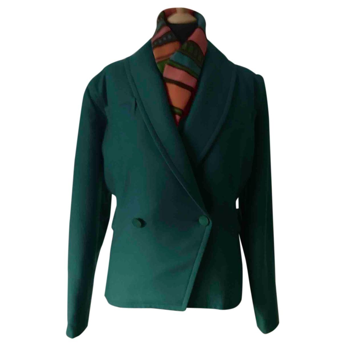 Courreges - Veste   pour femme en laine - vert