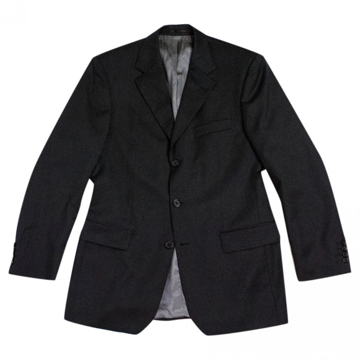 Boss \N Grey Wool Suits for Men 38 UK - US