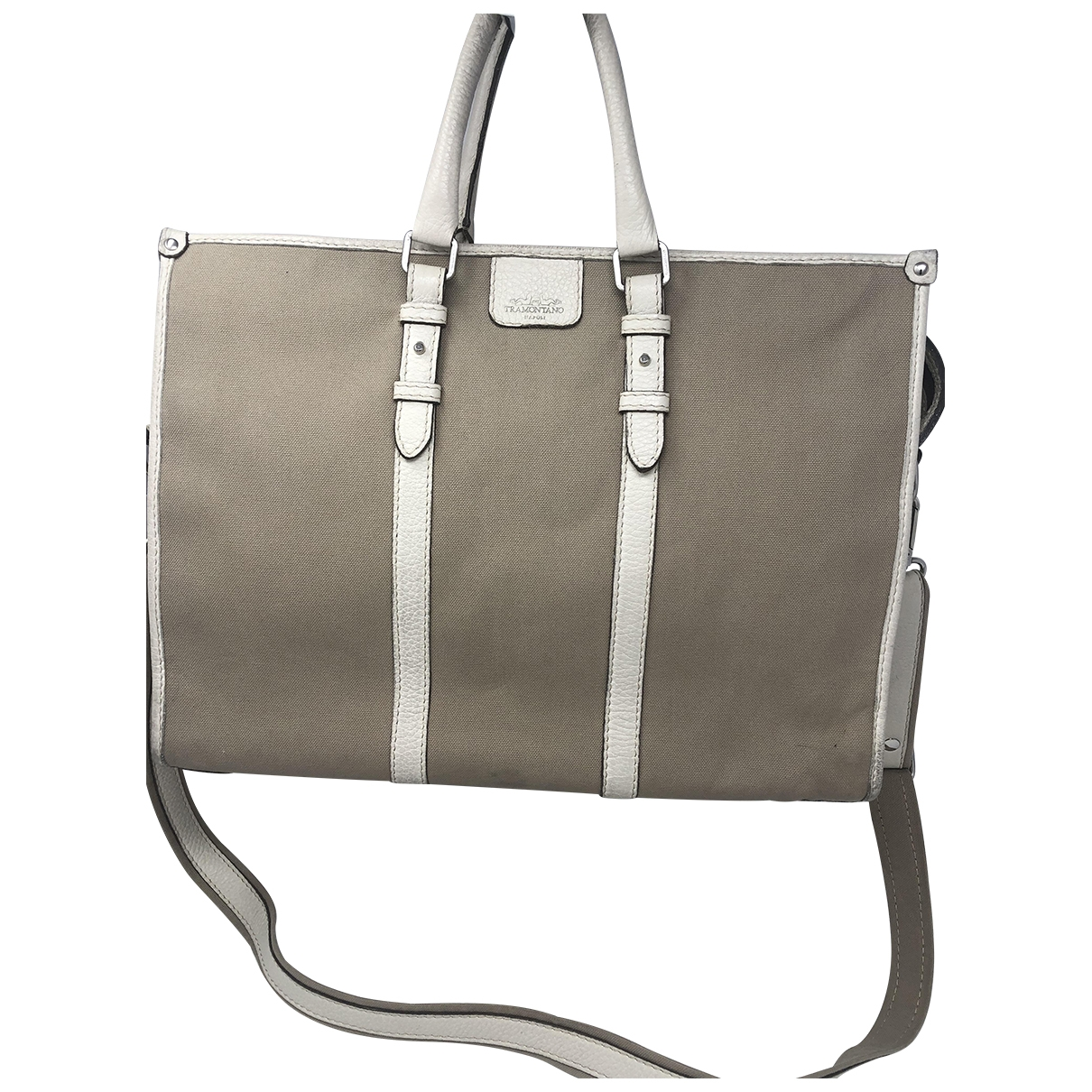 Non Signé / Unsigned \N Ecru Cotton backpack for Women \N