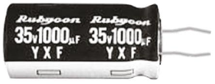 Rubycon 2200μF Electrolytic Capacitor 16V dc, Through Hole - 16YXF2200MEFCKC12.5X25 (5)