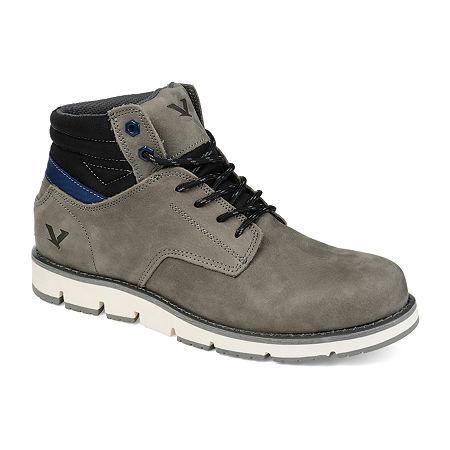Territory Mens Ty Bridger Chukka Boots Block Heel, 9 Medium, Gray