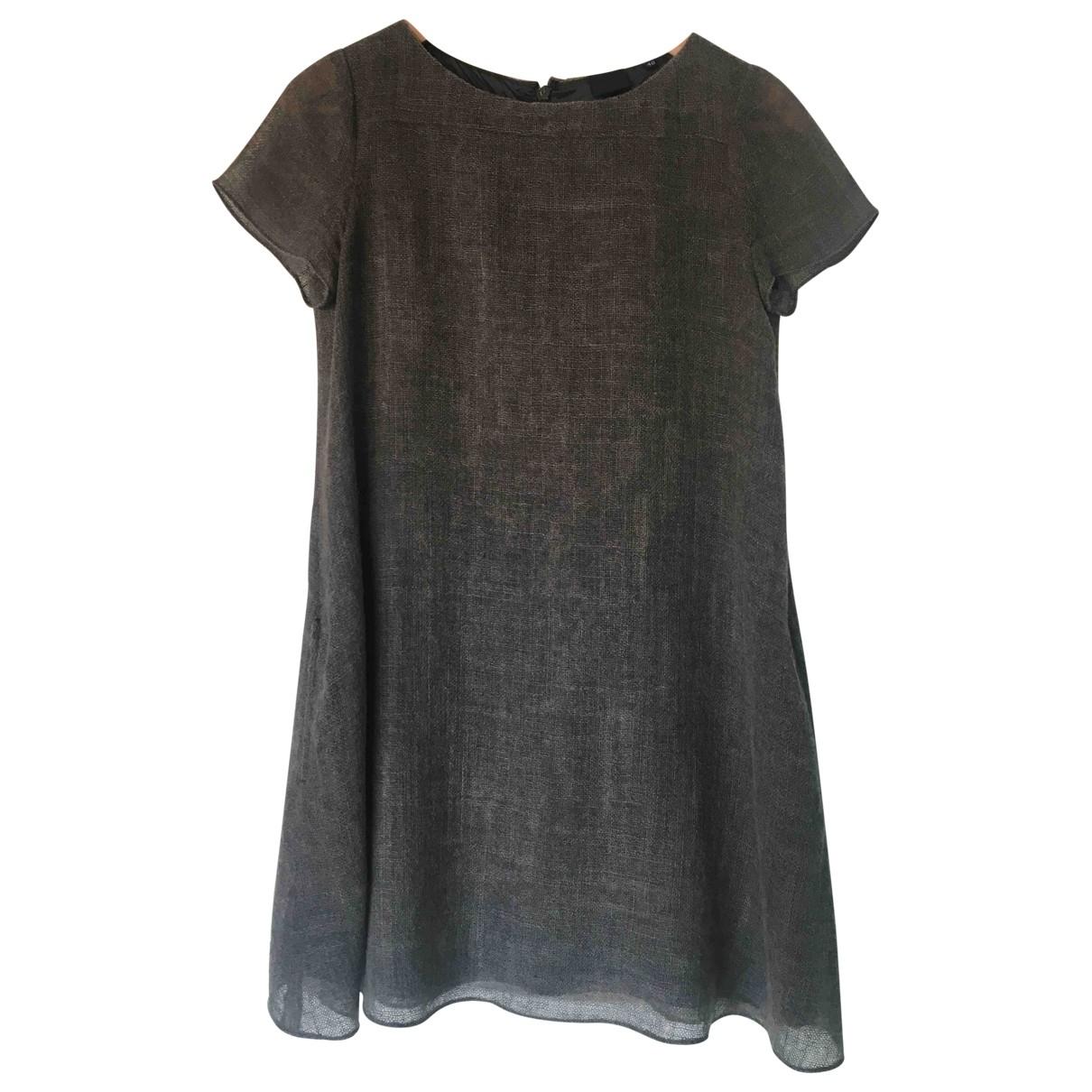 Aspesi \N Kleid in  Grau Wolle