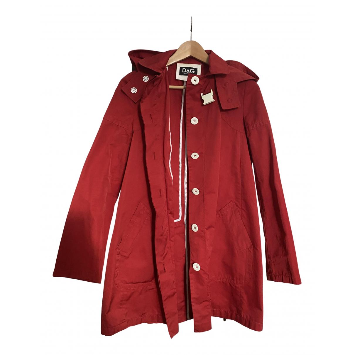 D&g - Trench   pour femme en coton - rouge