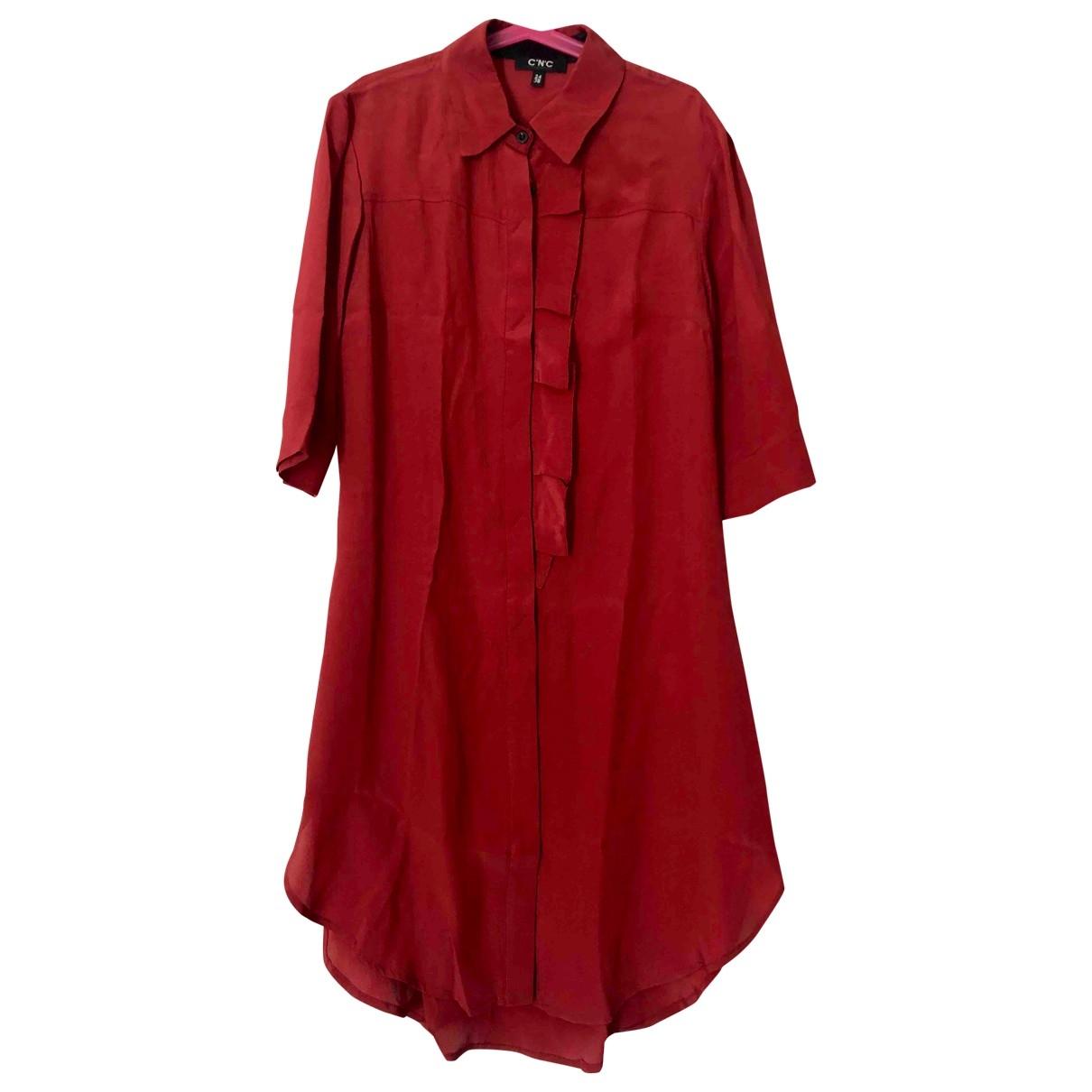Costume National \N Kleid in  Rot Seide