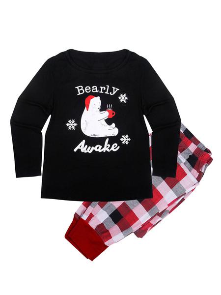 Milanoo Christmas Pajamas For Family Red Pants With Top For Men Christmas Pjs