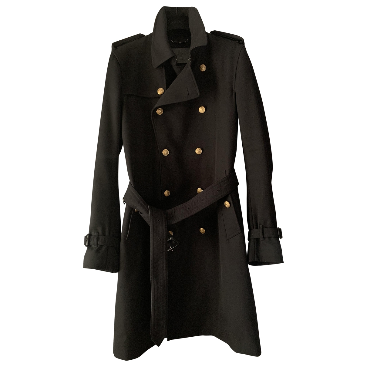 Dolce & Gabbana - Manteau   pour homme en toile - noir