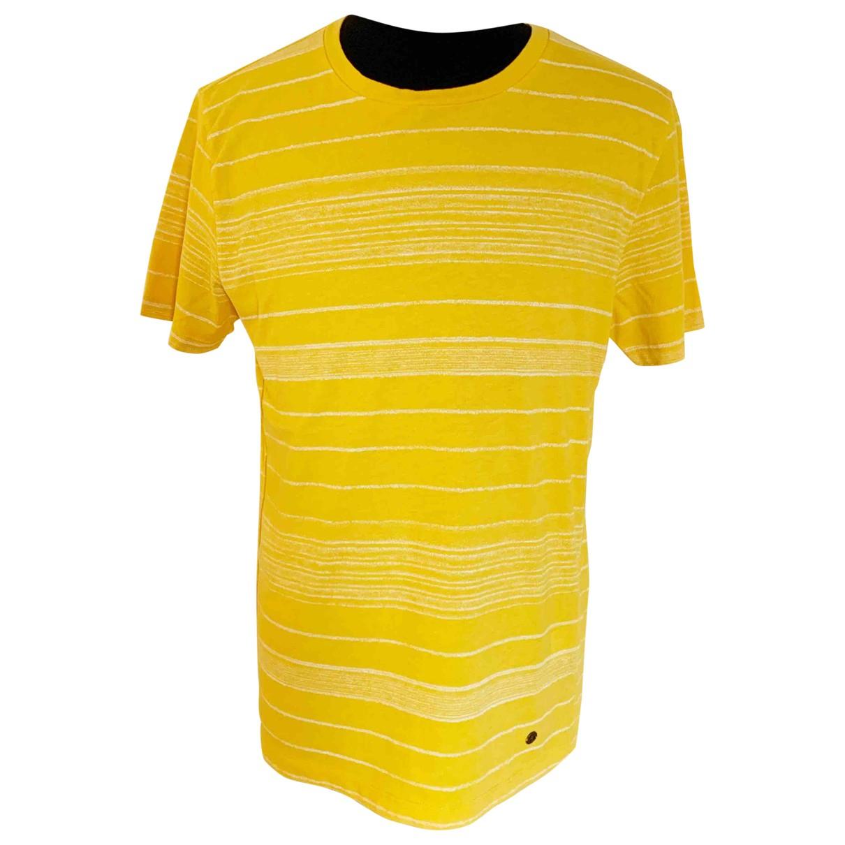 Boss - Tee shirts   pour homme en coton - jaune