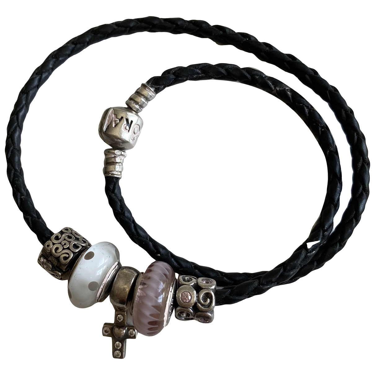 Pandora - Bracelet   pour femme en argent - orange