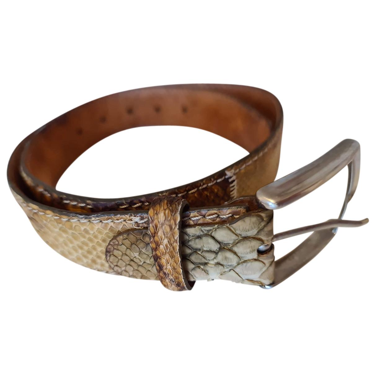 Fratelli Rossetti N Brown Python belt for Men 80 cm