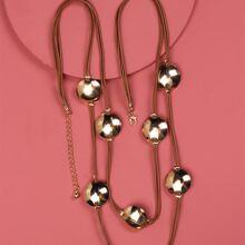 Halskette mit rundem Dekor