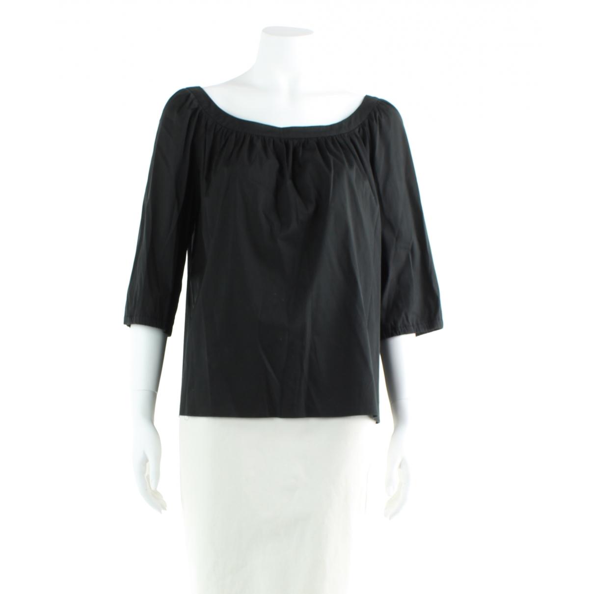 Miu Miu \N Black Cotton  top for Women 44 IT
