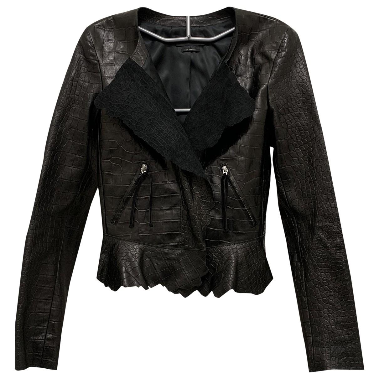 Isabel Marant - Veste   pour femme en cuir - noir