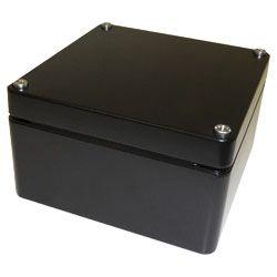 Deltron Black Die Cast Aluminium Enclosure, IP66, IP67, 220 x 120 x 80mm
