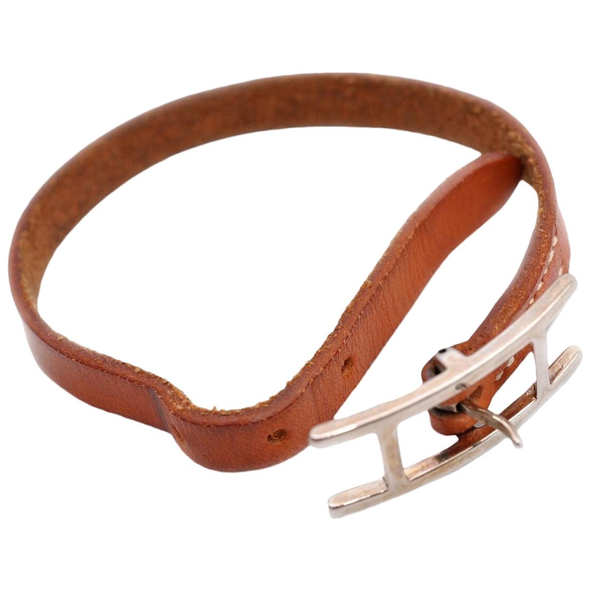 Hermes - Bracelet   pour femme en cuir - marron