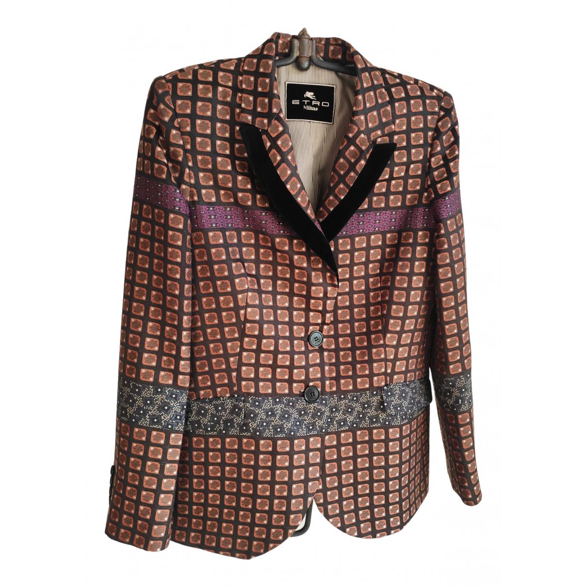 Etro - Veste   pour femme en laine - marron