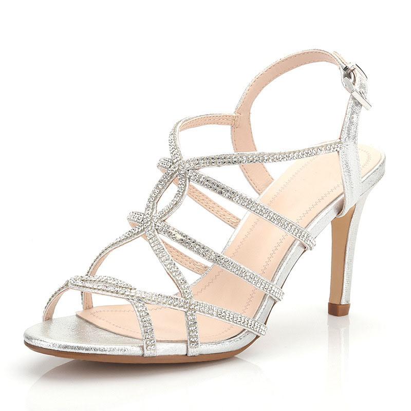 Ericdress Stiletto Heel Buckle Open Toe Plain Sandals