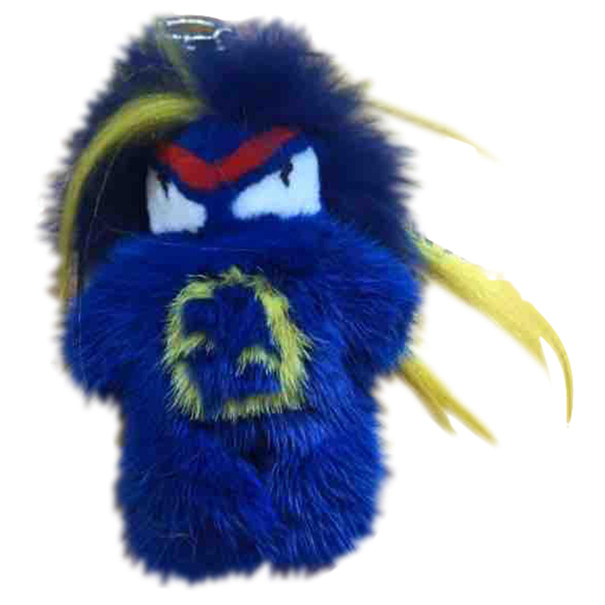 Fendi Bag Bug Taschenschmuck in  Blau Fell