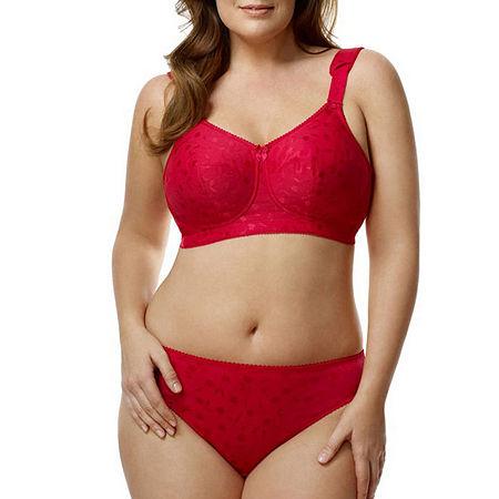 Elila Jacquard Panty, 4x , Red