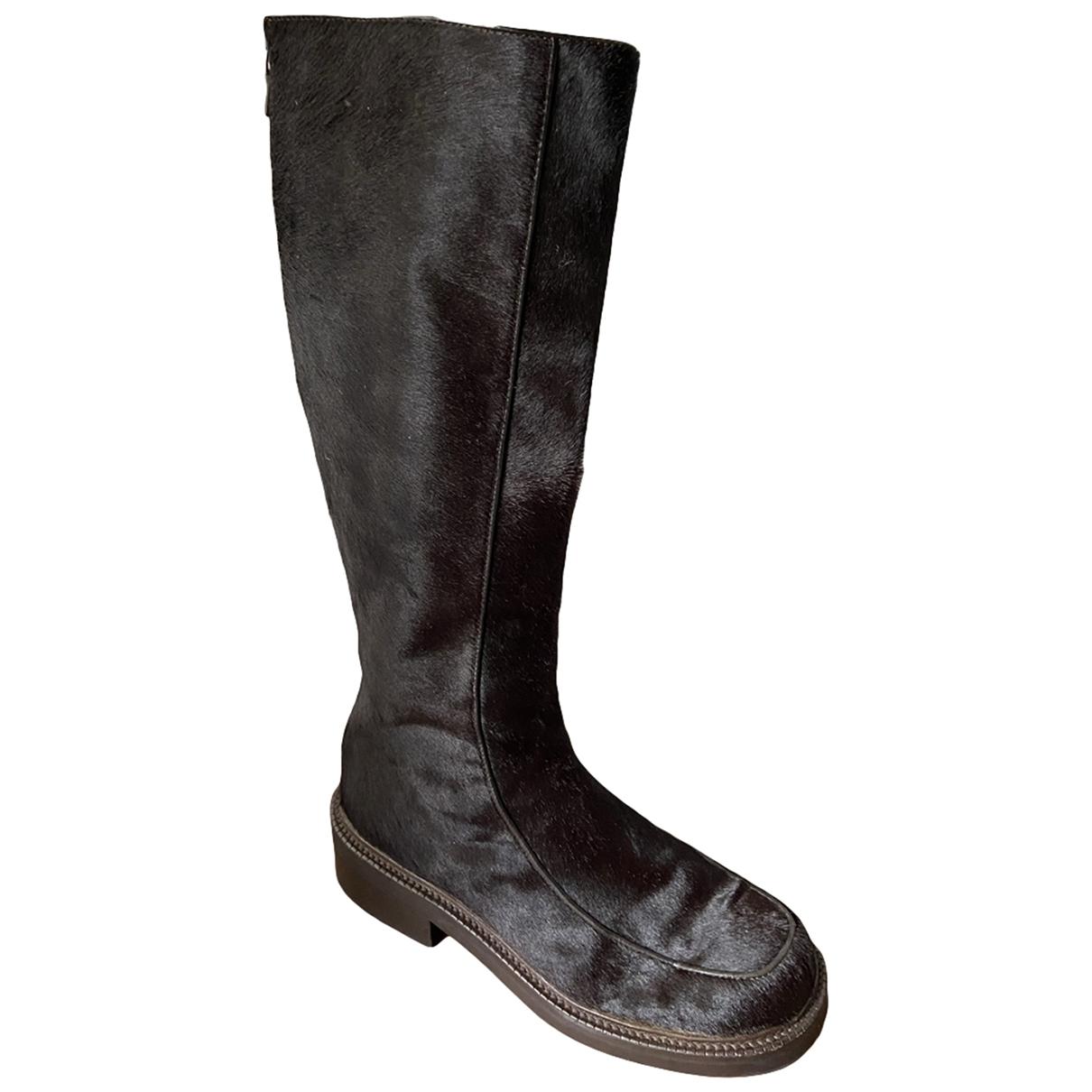 Prada \N Brown Pony-style calfskin Boots for Women 38 EU