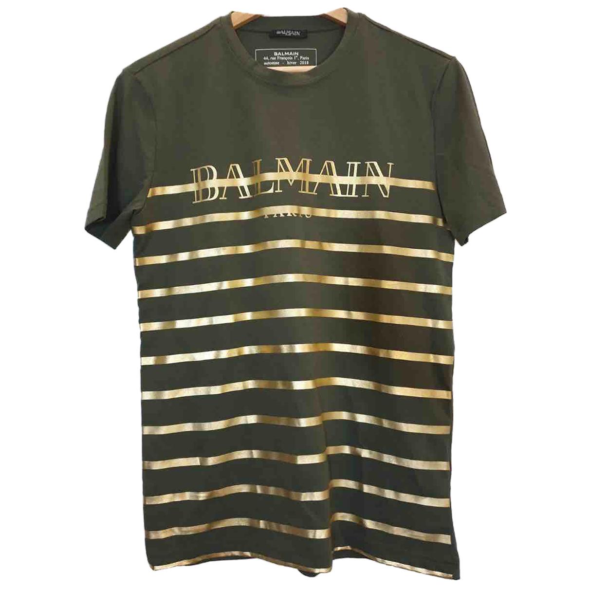 Balmain - Tee shirts   pour homme en coton - vert