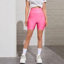 Wideband Waist Biker Shorts