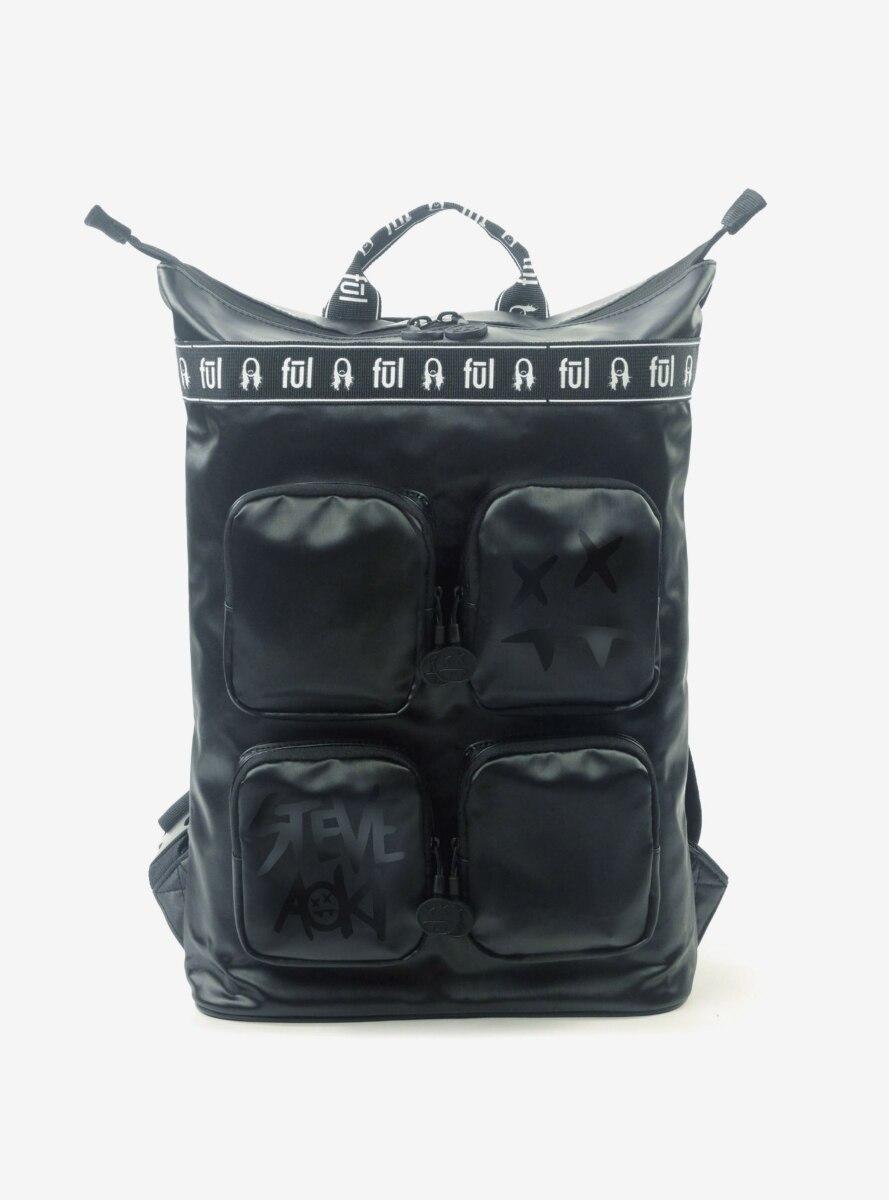 Steve Aoki FUL FANG Convertible Black Backpack Tote