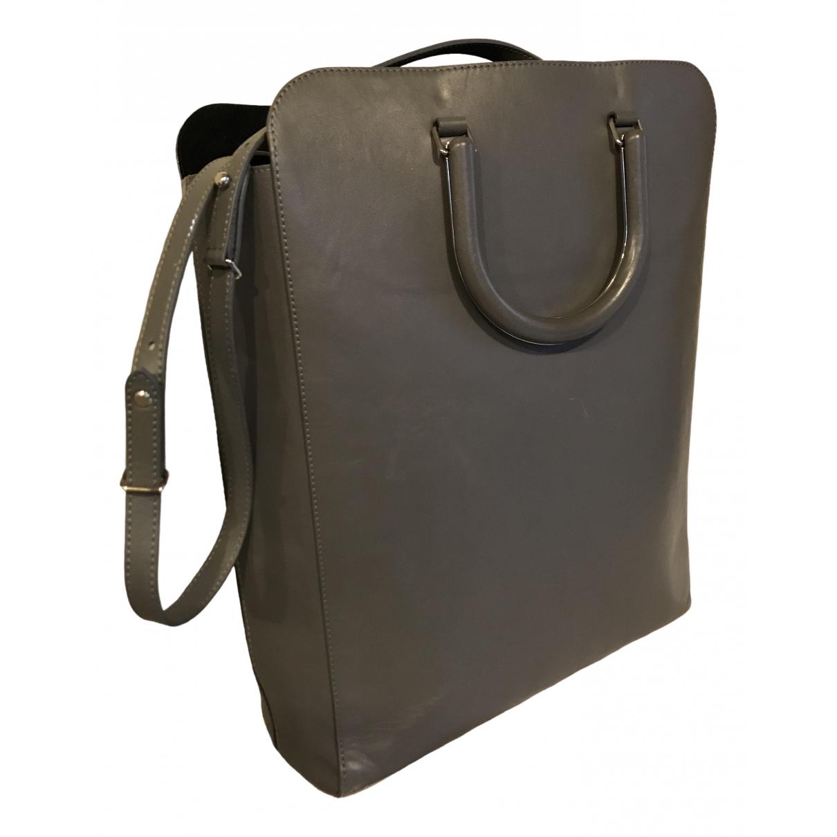 Maison Martin Margiela \N Grey Leather handbag for Women \N