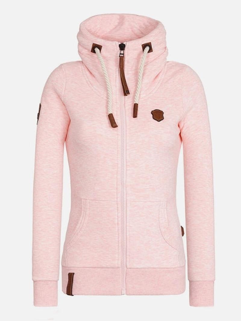 Ericdress Zipper Regular Standard Long Sleeve Women's Hoodie