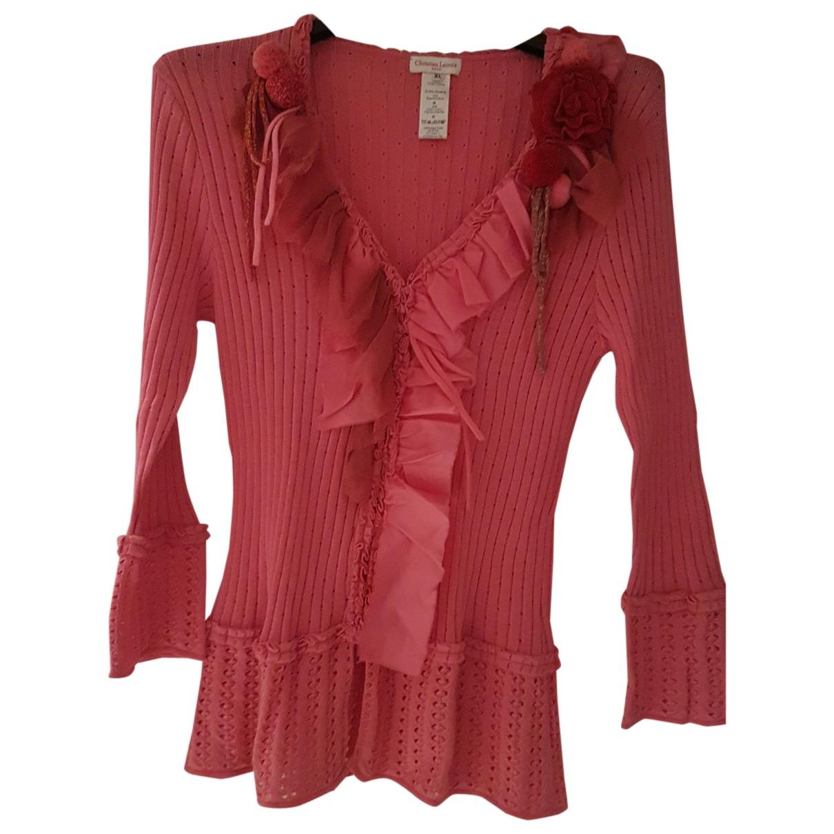 Christian Lacroix - Veste   pour femme en soie - rose