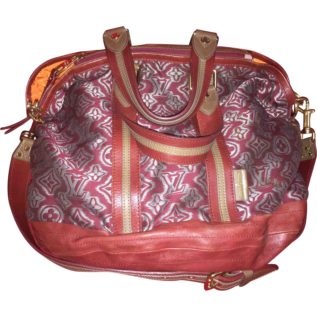 Louis Vuitton \N Red Cotton handbag for Women \N