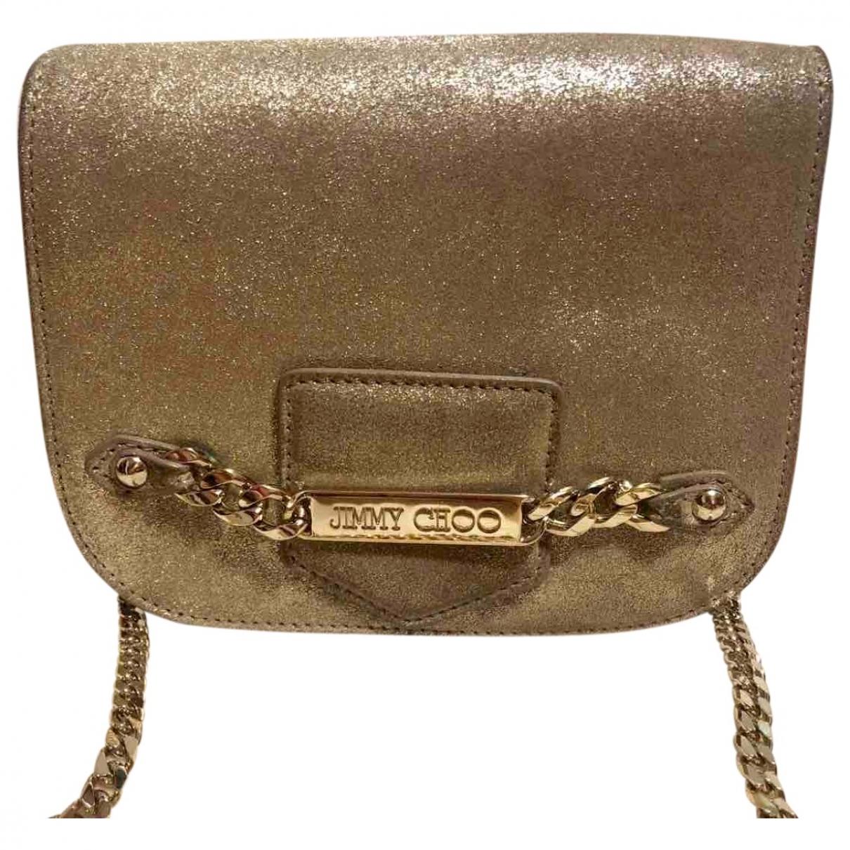 Jimmy Choo \N Handtasche in  Beige Veloursleder