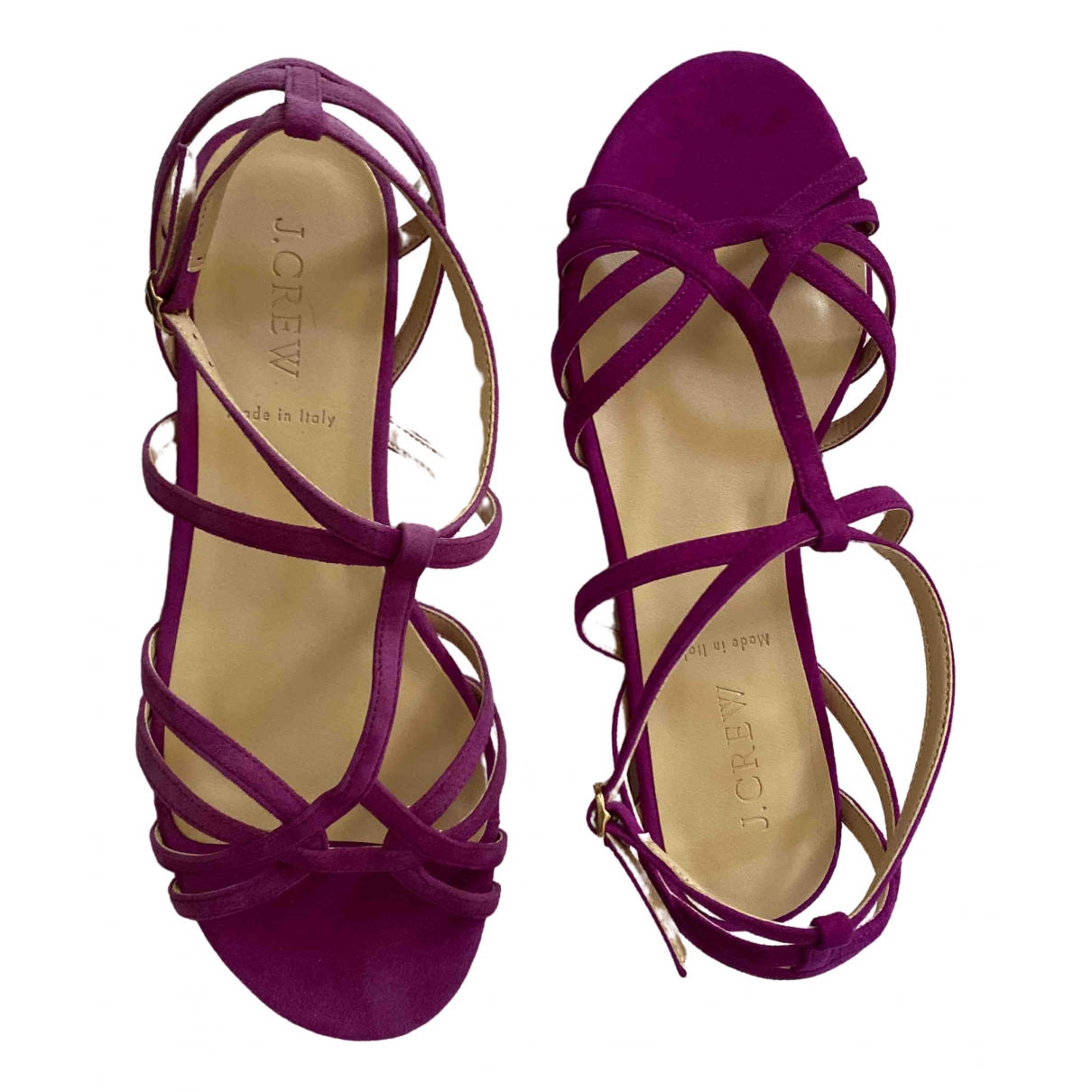 J.crew \N Purple Leather Sandals for Women 7 US