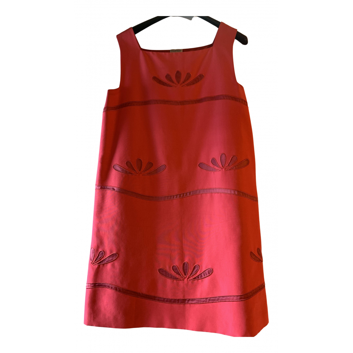 Philosophy Di Alberta Ferretti \N Kleid in  Rot Baumwolle - Elasthan