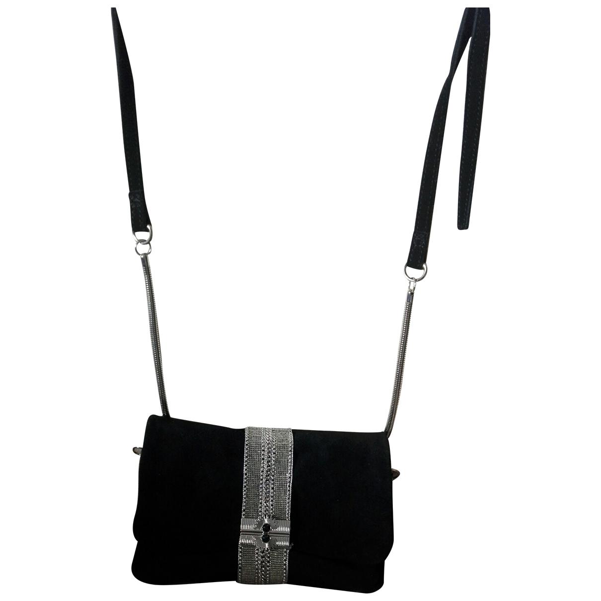 Hipanema \N Black Suede Clutch bag for Women \N