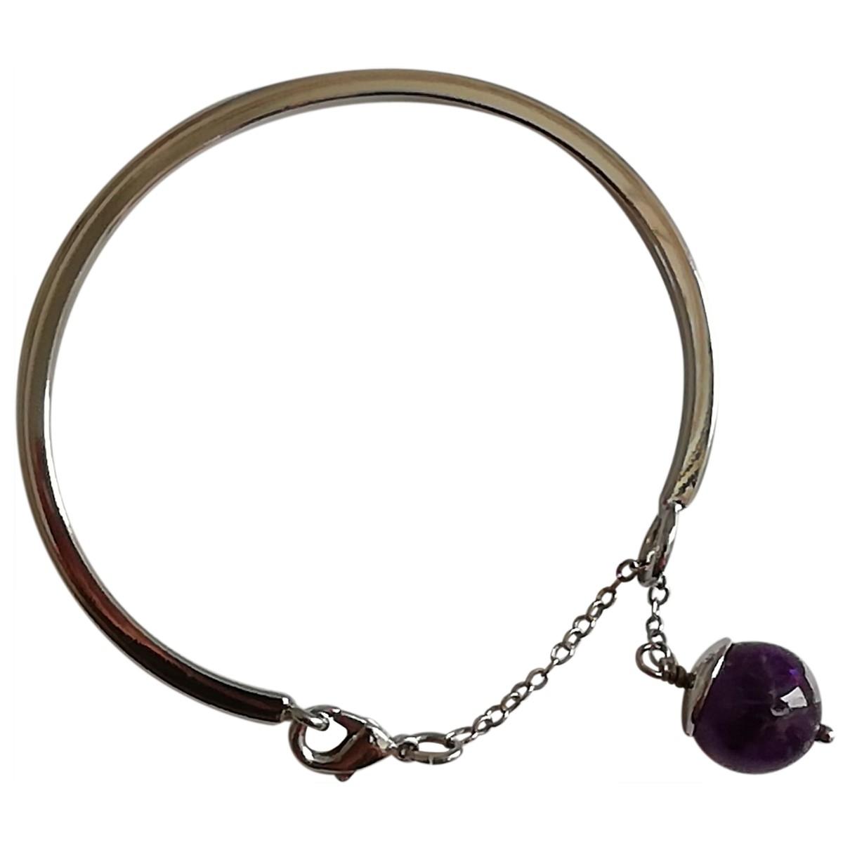 Non Signé / Unsigned Jonc Silver Metal bracelet for Women \N