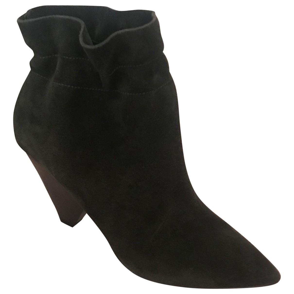 Ash - Boots   pour femme en suede - kaki
