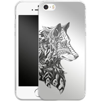 Apple iPhone 5s Silikon Handyhuelle - Wolf Profile von BIOWORKZ